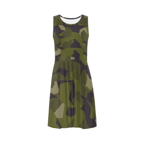 Swedish M90 woodland camouflage Sleeveless Ice Skater Dress