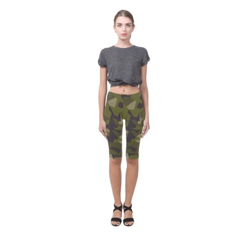Swedish M90 woodland camouflage Hestia Cropped Leggings shorts
