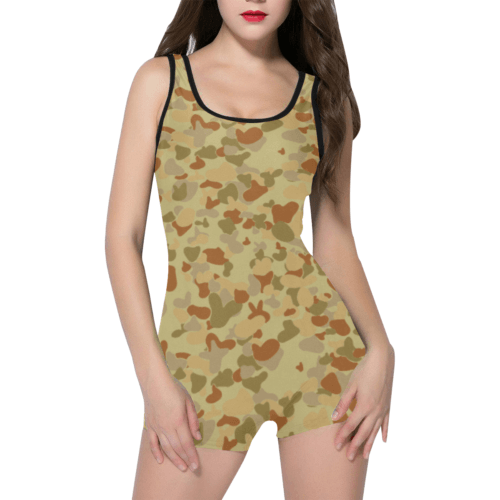 DESERT AUSCAM DPMU MID-POINT camouflage Classic One Piece Swimwear