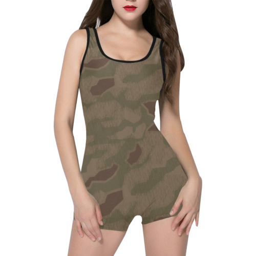 sumpfmuster 43 camouflage Classic One Piece Swimwear