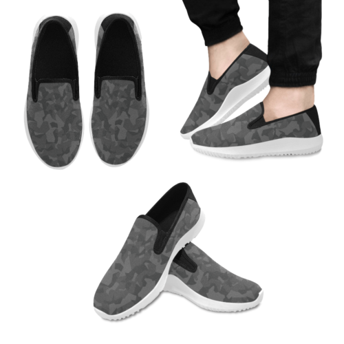 Swedish M90 Night Camouflage Slip-on Men's Canvas Sneakers