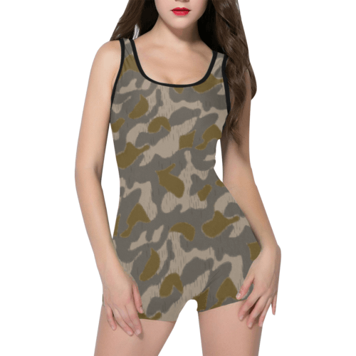Austrian Sumpfmuster early camouflage Classic One Piece Swimwear