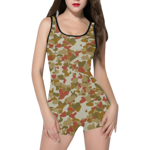 red auscam opfor musoria camouflage Classic One Piece Swimwear
