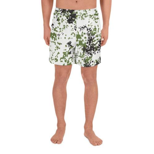 Snow Flecktarn Schneetarn fleck Men's Athletic Long Shorts
