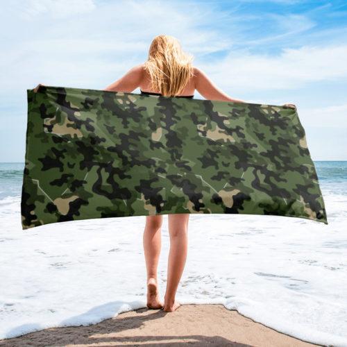 German Zelttarnmuster Autumn Camouflage beach Towel