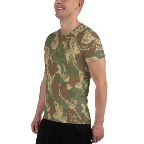 Rhodesian Brushstrokes Camouflage Men's Athletic T-shirt
