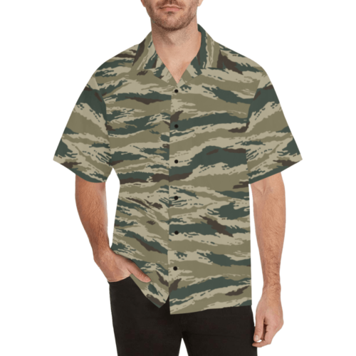 Kamush arid  camouflage Relaxed Short Sleeve Shirt with Lapel Collar