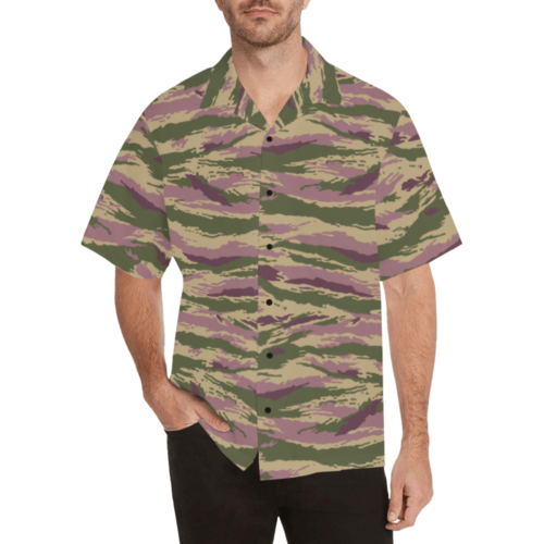 Kamush PFO camouflage Relaxed Short Sleeve Shirt with Lapel Collar