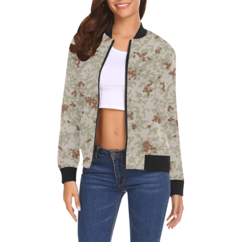 Japanese 2012 jietai desert camouflage All Over Print Bomber Jacket for Women