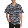 Kamush Ten shadow camouflage Relaxed Short Sleeve Shirt with Lapel Collar