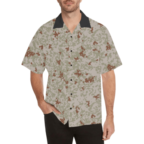 Japanese 2012 jietai desert camouflage Relaxed Short Sleeve Shirt with Lapel Collar