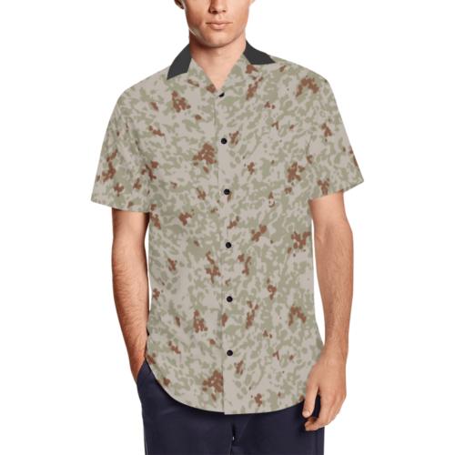 Japanese 2012 jietai desert camouflage Men's Short Sleeve Shirt with Lapel Collar (Model T54)