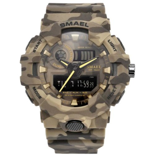 8001 Military Waterproof Camouflage Chronograph Watch