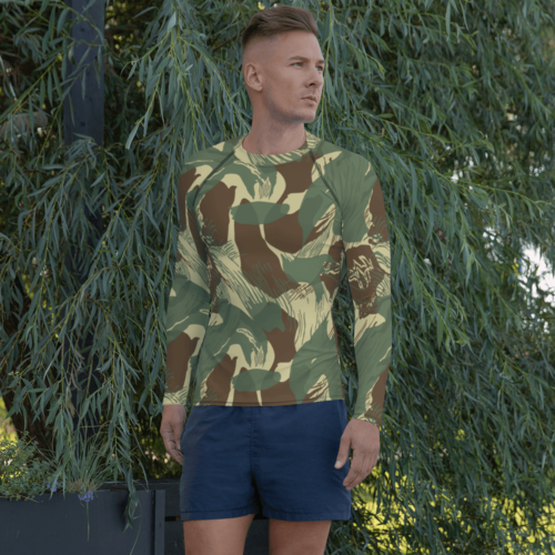 Rhodesian Brushstrokes Camouflage v2 Men's Rash Guard