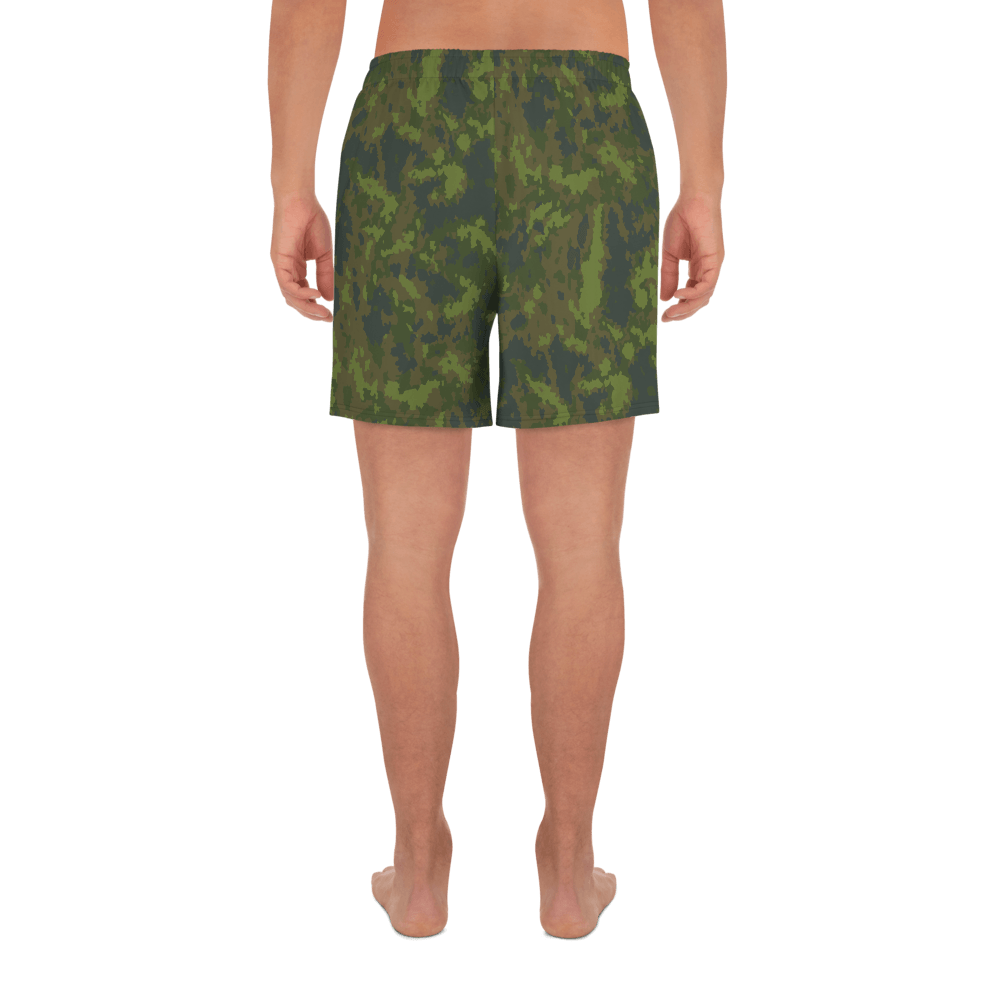 Finnish M05 Woodland Camouflage Men's Athletic Long Shorts