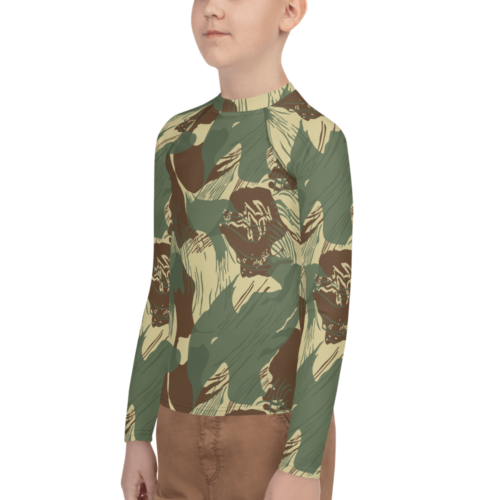 Rhodesian Brush strokes camouflage Youth Rash Guard