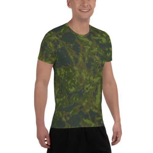 Finnish M05 Woodland Men's Athletic T-shirt