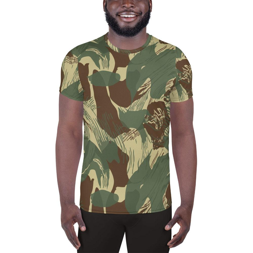 Rhodesian Brushstrokes Camouflage V2 Men's Athletic T-shirt