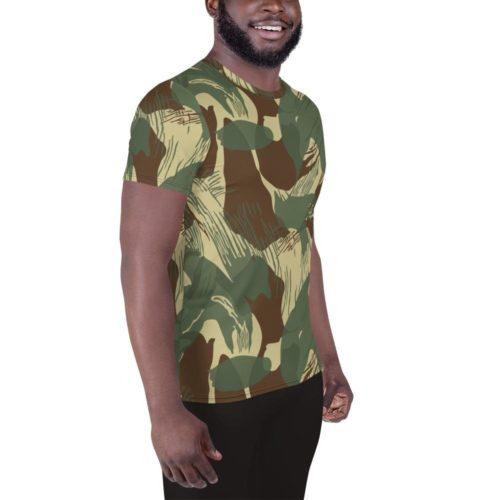 Rhodesian Brushstrokes Camouflage V2 Men's Athletic T-shirt
