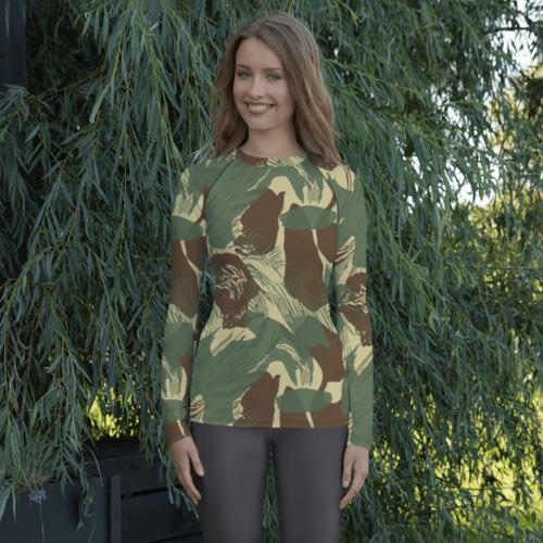 Rhodesian Brushstokes Camouflage v2 Women's Rash Guard