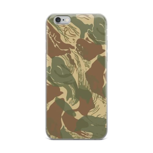 Rhodesian brushstroke camouflage iPhone Cases