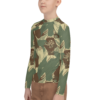 Rhodesian Brush strokes camouflage Youth Rash Guard