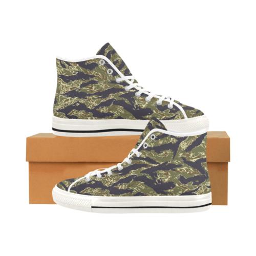 Tigerstripe woodland Camoverse hi-top  Men's Canvas Shoes
