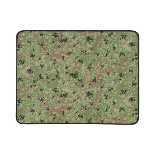 "Japanese 1991 jietai camouflage Beach Mat 78""x 60"""