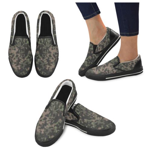 rauchtarn spring camouflage Men's Slip-on Canvas Shoes