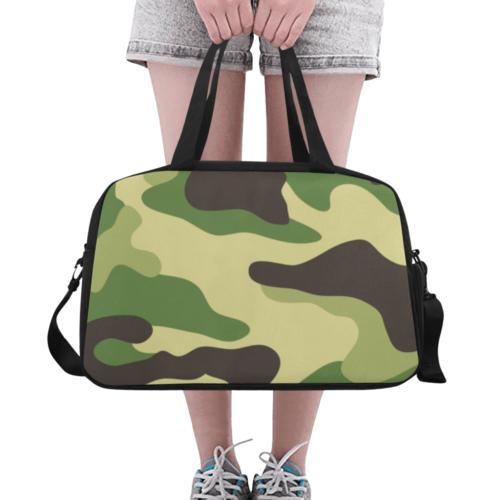 higland camo Fitness Handbag