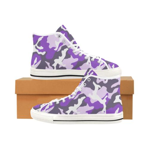 ERDL ultraviolet Camoverse hi-top  Men's Canvas Shoes