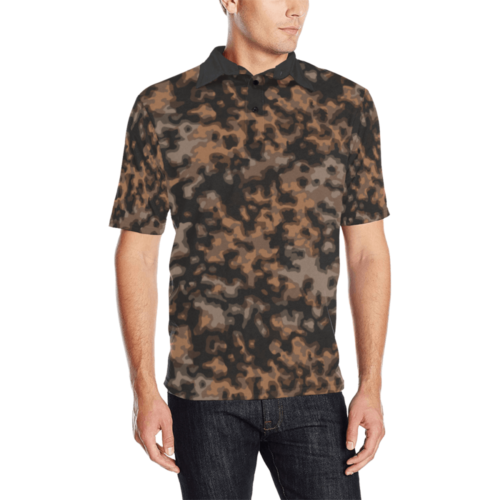 rauchtarn autumn camouflage Men's  Polo Shirt