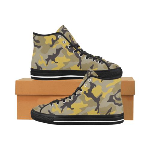 ERDL yellow stinger Camoverse hi-top  Men's Canvas Shoes