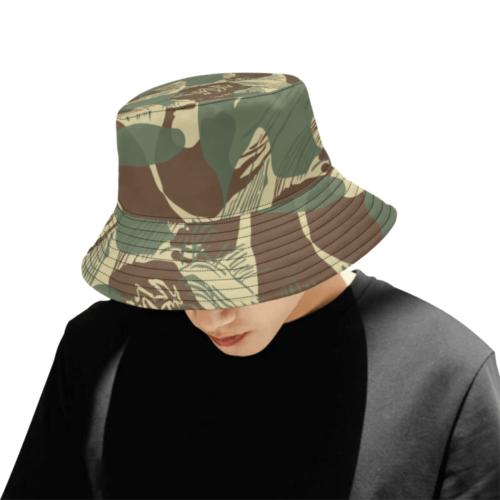 rhodeianBrushstroke camouflage v2 Bucket Hat for Men