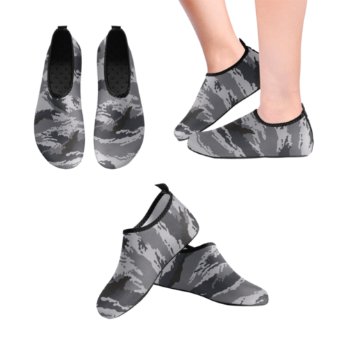 Russian kamysh urban camouflage Men's Slip-On Water Shoes