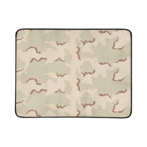 "US 3 color desert Camouflage Beach Mat 78""x 60"""