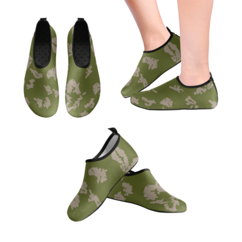 russian KLMK Berehzka green pink leaf Men's Slip-On Water Shoes