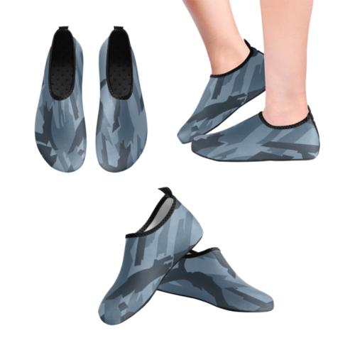 russian Kamyshovy risunok metro camouflage Men's Slip-On Water Shoes