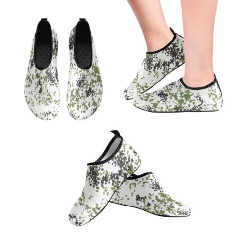 Snow Flecktarn Schneetarn Fleck camouflage Men's Slip-On Water Shoes