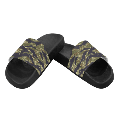 Tiger-stripe-woodland Men's Slide Sandals