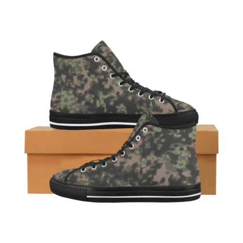 WWII Rauchtarn Spring Camouflage Camoverse hi-top  Men's Canvas Shoes