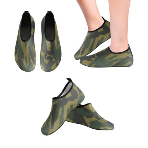 russian Kamyshovy risunok Brown camouflage Men's Slip-On Water Shoes