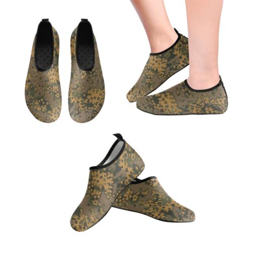German WWII Eichenlaub Fall camouflage Men's Slip-On Water Shoes