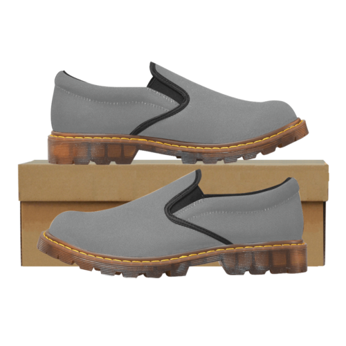 Plain Grey Martin Men's Slip-On Loafer