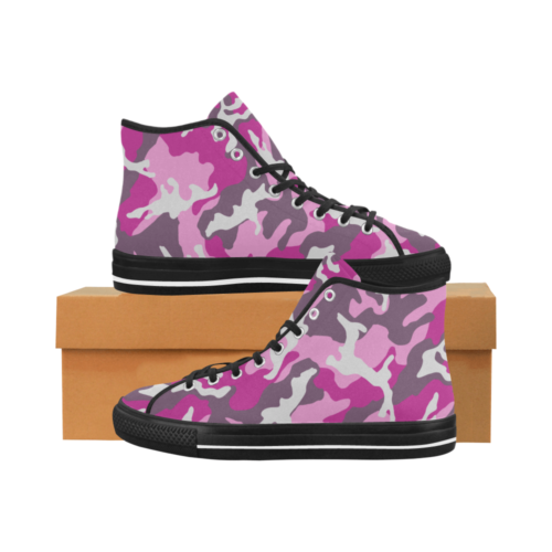 ERDL pink Camoverse hi-top  Men's Canvas Shoes