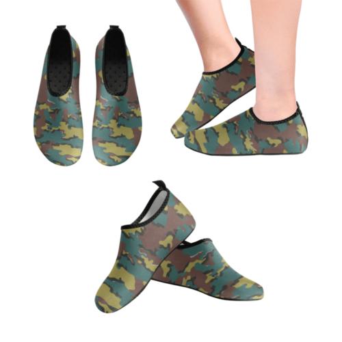 Belgian Jigsaw camouflage Men's Slip-On Water Shoes