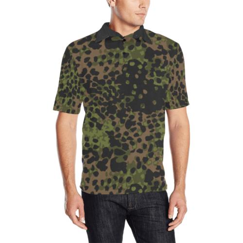 platanenmuster summer camouflage Men's  Polo Shirt
