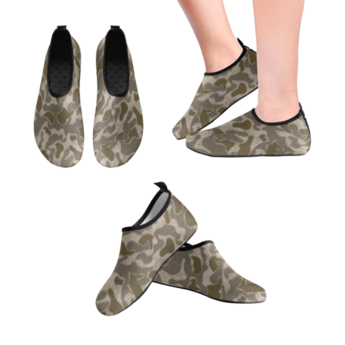Austrian Sumpfmuster late steintarn  camouflage Men's Slip-On Water Shoes