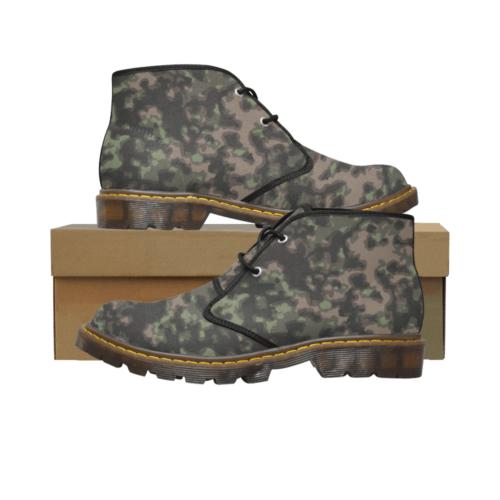 rauchtarn spring camouflage Men's Canvas Chukka Boots