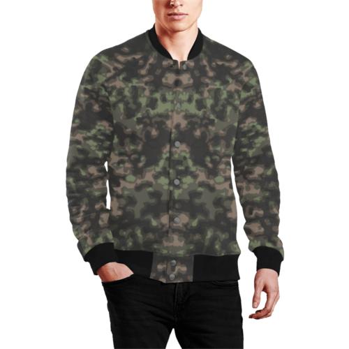 WWII Rauchtarn Spring Camouflage Men's Baseball Teddy Jacket
